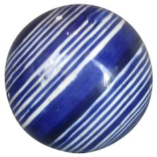 Smaller Scottish Ceramic Carpet Ball Antique 19th Century