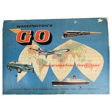 Waddingtons GO International Travel Boardgame Vintage c1970