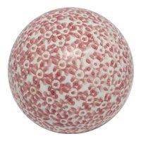 Pink Scottish Ceramic Carpet Ball Antique Victorian c1880