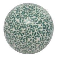 Green Scottish Ceramic Carpet Ball Antique Victorian c1880