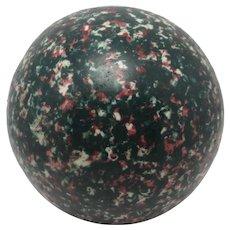 Scottish Spongeware Ceramic Carpet Ball Antique Victorian c1880