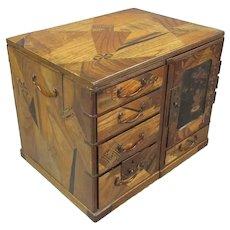 Meiji Japanese Scholars Box & Table Antique c1890