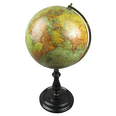 Geographia Terrestrial Globe Art Deco c1920