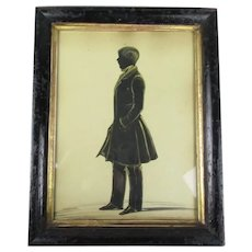 Silhouette Of A Gentleman Antique Victorian c1850
