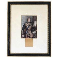 Baxter Oil Print Of Prince Albert Victorian Antique c1900