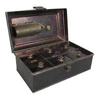 Toleware Spice Tin Antique Victorian c1850