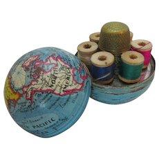 Small Globe Cotton & Thimble Holder c1920.