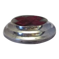 Vintage Sterling Silver Needle Pin Cushion c1939.