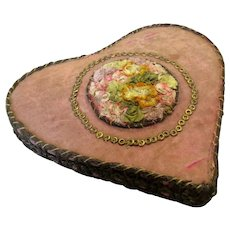 Antique Heart Shaped Pin Cushion Victorian c1890.