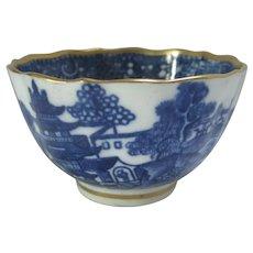 Caughley Pagoda Pattern Tea Bowl Antique Georgian 1782-1792