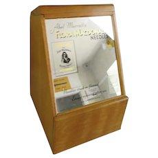 Sewing Needle Retail Dispenser Cabinet English Vintage c1950