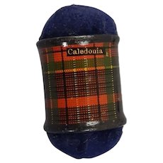 Caledonia Tartan Mauchline Ware Double Ended Pincushion c1890
