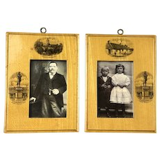Pair Of Maucheline Picture Frame Victorian English c 1895