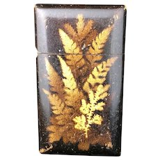 Card Case By Mauchline Antique Victorian English c.1890