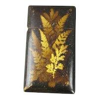 Scottish Fern Ware Card Case Antique Victorian c1900