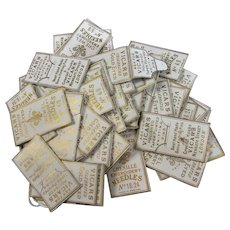 48 Packets of Vicars Cased Needles Pins Antique c1890