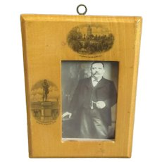 Smaller Scottish Mauchline Ware Photograph Frame Antique c1900