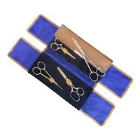 Leather Scissor Case Vintage c1930