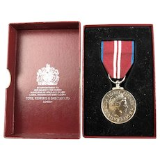 Boxed Silver Queen Elizabeth II Diamond Jubilee Medal Contemporary 2012