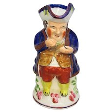 English Ceramic Toby Jug Vintage 20th Century.
