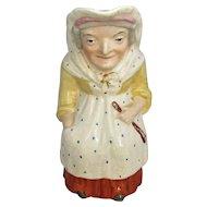English Ceramic Character Jug Vintage 20th Century.
