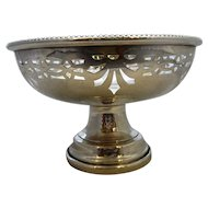 English Sterling Silver Pierced Bowl Vintage Birmingham 1950