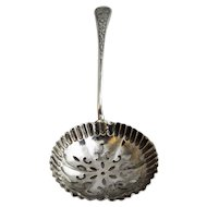 English Sterling Silver Sugar Sifter Spoon Antique Birmingham 1901