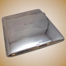 Sterling Silver Purse Or Card Case Vintage Hallmarked Chester 1921.