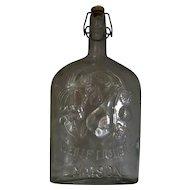 Italian Glass Wine Decanter Vintage c.1950.