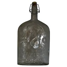 Italian Glass Wine Decanter Vintage c.1950.