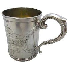 English Sterling Silver Mug Antique c.1875.