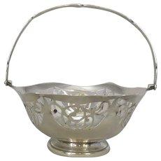 English Silver Bon Bon Dish Antique c.1914.