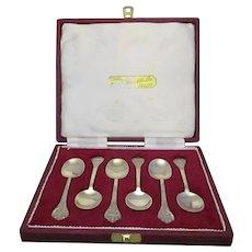 Sterling Silver Cased Set Of Silver Teaspoons By Francis Howard Vintage Birmingham 1973.