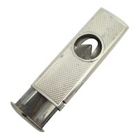 English Sterling Silver Cigar Cutter Vintage 1957