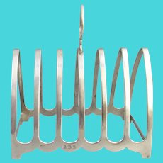 Toast Rack English Sterling Silver 1933