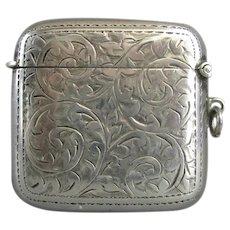 Sterling Silver Art Deco Vesta Birmingham 1919