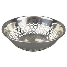 Sterling Silver Pierced Bowl Antique Edwardian Chester 1914