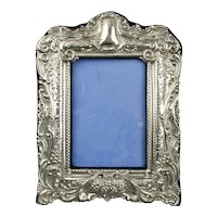 Sterling Silver Photograph Frame Antique Edwardian Birmingham 1901