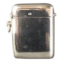 Sterling Silver Vesta Case by Walker & Hall George V Antique Georgian Sheffield 1917