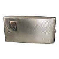 Sterling Silver Cigarette Case By Toghill Art Deco Vintage Birminham 1935
