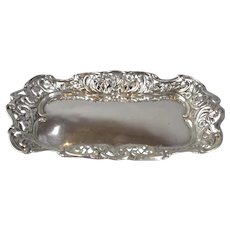 Sterling Silver Pin Tray Antique Victorian Birmingham 1897