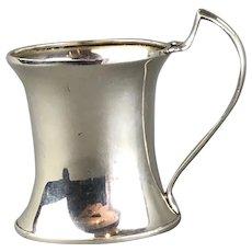 Sydney Co Christening Mug Cup Unengraved Sterling Silver George V Art Nouveau Antique Birmingham 1913
