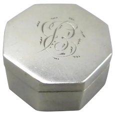 Sterling Silver Vinaigrette Box Antique Georgian Birmingham 1800