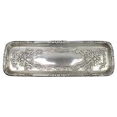 Sterling Silver Pin Tray Antique Edwardian Sheffield 1907