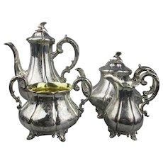 Sterling Silver Four Piece Tea Set Antique Victorian London 1843