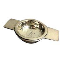 Silver Plate Tea Strainer Art Deco Vintage c1940