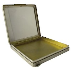 Sterling Silver Art Deco Compact Vintage London 20th Century.