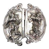 Sterling Silver Belt Buckle Antique c1900