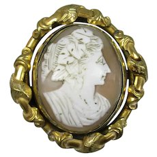 Pinchbeck Cameo Swivel Brooch Antique 19th Century