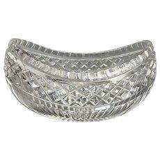 Large Cut Glass Bowl Art Deco Antique c1920